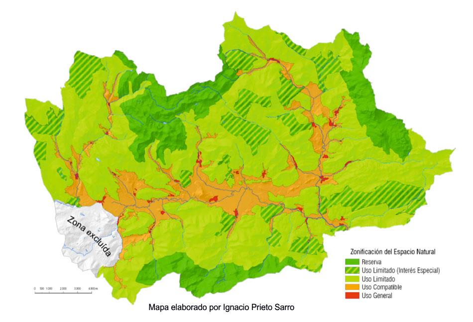 mapa espacio natural valles de babia y luna
